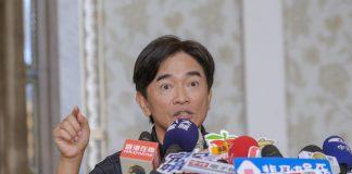 吳宗憲談韓國瑜副手人選。(盧禕祺攝)