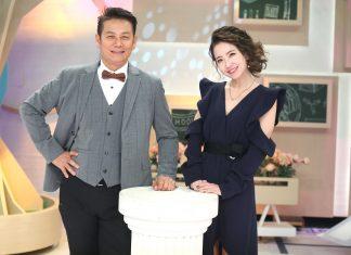 謝忻(右)、徐乃麟主持中天亞洲台新節目《聚音》。(粘耿豪攝)