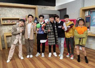 小賴(左起)、蘇韋華、黃士杰,郭宇宸、張又瑋、徐謀俊與凱莉開心合照。(趣你的娛樂提供)