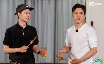 韓東君(右)、王一博網友初見面。(愛奇藝提供)